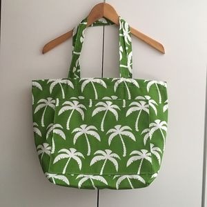 Handbags - Shopping Tote // Market Tote // Green Palm Trees